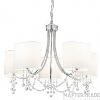 Searchlight 1055-5CC Nina 5 Light Chrome and Glass Pendant With Shades