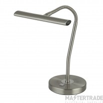 Searchlight Bow Led Table Lamp With Flexi Head - Ss