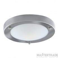 Searchlight 1131-31SS Satin Silver Flush 31cm Bathroom Light I.P44