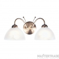 Searchlight 1132-2AB Milanese 2 Light Wall Light In Antique Brass