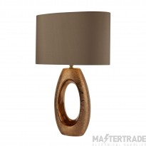 Searchlight Artisan 1Lt Bronze Oval Base Table Lamp