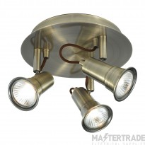 Searchlight 1223AB Eros Antique Brass 3 Light Ceiling Spotlight