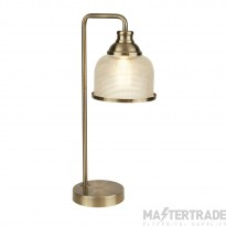 Searchlight 1351-1AB Bistro II One Light Table Lamp In Antique Brass