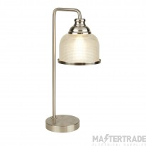 Searchlight 1351-1SS Bistro II One Light Table Lamp In Satin Silver