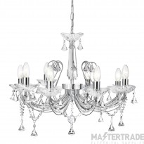Searchlight 1398-8CC Lafayette 8 Light Ceiling Pendant Light In Chrome And Crystal