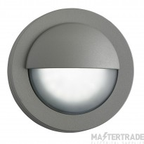 Searchlight 1402GY 18 LED Outdoor Round Wall Light In Grey With Acid Glass