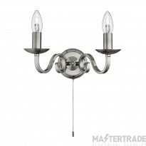 Searchlight 1502-2SS Richmond Wall Light in Satin Silver Finish