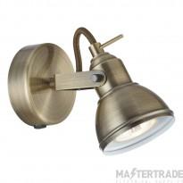 Searchlight 1541AB Focus Antique Brass Single spotlight