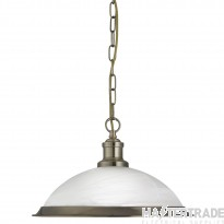 Searchlight 1591AB Bistro Ceiling Pendant Light in Antique Brass