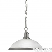 Searchlight 1591SS Bistro Ceiling Pendant Light in Satin Silver
