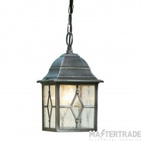 Searchlight 1641 Genoa Outdoor Hanging Porch Lantern In Aluminium