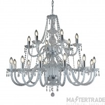Searchlight 17218-18 Hale 18 Light Two Tier Chandelier Light In Polished Chrome.