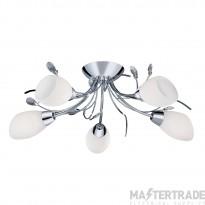 Searchlight 1765-5CC Gardenia Chrome Flush 5 Light Ceiling Light