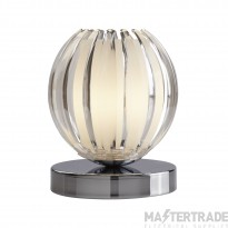Searchlight Claw Touch Table Lamp, Chrome, Clear Acrylic, Frosted Glass