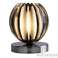Searchlight 1811SM Chrome Finish Touch Table Lamp with Smokey Glass