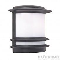Searchlight 1812 Black Outdoor Half Wall Light