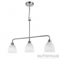 Searchlight 1983-3SS Cromwell 3 Light Linear Pendant In Satin Silver