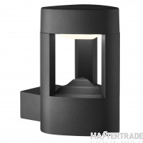 Searchlight 2005GY 1 Light Outdoor Wall Light With Clear Diffuser In Grey