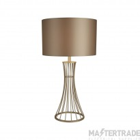 Searchlight Wheatsheaf Cage Frame Table Lamp, Champagne
