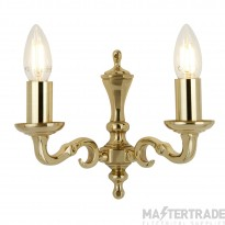 Searchlight 2172-2NG Seville 2 Light Traditional Brass Wall Light