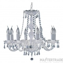 Searchlight 218-8 Hale 8 Light Crystal Chandelier In Chrome