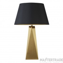 Searchlight Maldon 1Lt Table Lamp, Gold, Black Shade With Gold Interior