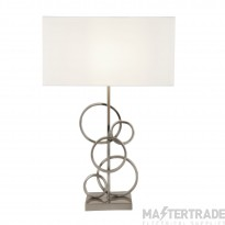 Searchlight Olympic Table Lamp With Rings And White Shade