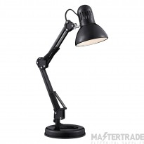 Searchlight 2429BK Hobby 1 Light Table Lamp In Shiny Black