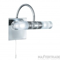 Searchlight 2555CC-LED Lima Two Light Wall Light In Chrome And Mirrored Glass