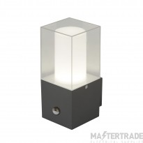 Searchlight 2581GY LED Outdoor Wall Light In Grey With Polycarbonate Shade