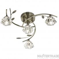 Searchlight 2634-4AB Sierra 4 Light Semi Flush Ceiling Light Antique Brass