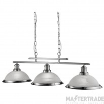 Searchlight 2683-3SS Bistro 3 way Ceiling Bar Pendant Light Silver