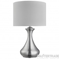 Searchlight Touch Lamp - Satin Silver,  White Shade