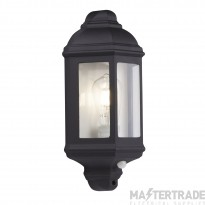 Searchlight 280BK-PIR Outdoor Wall Light In Black With Built In PIR