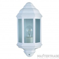 Searchlight 280WH 1 Light Outdoor Wall Lantern Light In White