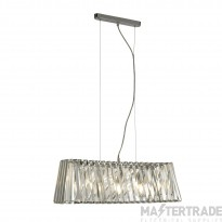 Searchlight 2894-4CC Tiara Linear Pendant Light In Chrome And Crystal
