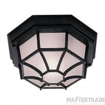 Searchlight Outdoor & Porch - Black Flush Light