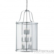 Searchlight 30612-12CC 12 Light Victorian Lantern Ceiling Pendant Light In Chrome