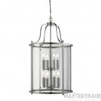 Searchlight 3068-8CC 8 Light Victorian Lantern Ceiling Pendant Light In Chrome
