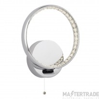 Searchlight 3111CC Rings One Light Wall Light In Chrome With Acrylic