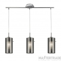 Searchlight 3303-3SM Duo 2 Bar 3 Light Ceiling Pendant with Cylinder Shades