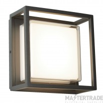 Searchlight 3812GY Ohio One Light Ceiling Light In Grey With Polycarbonate Lens