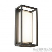 Searchlight 3831GY Ohio One Light Wall Light In Grey With Polycarbonate Lens