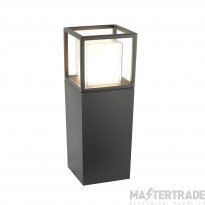 Searchlight 3843-450GY Ohio One Light Garden Post Light In Grey With Polycarbonate Lens