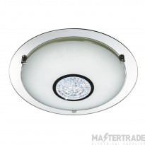 Searchlight 3883-31 Bathroom Flush Ceiling Light In Chrome - Dia: 320mm