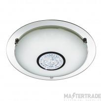 Searchlight 3883-41 Bathroom Flush Ceiling Light In Chrome - Dia: 420mm