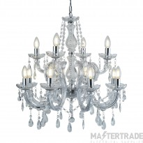 Searchlight 399-12 Marie Therese 12 Light Chandelier Light In Polished Chrome