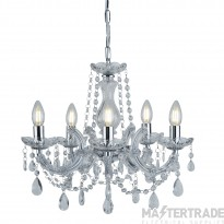 Searchlight 399-5 Marie Therese 5 Light Chandelier Ceiling Light In Polished Chrome