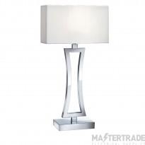 Searchlight Cusion Table Lamp (Single) - Curved Rectangle, Chrome