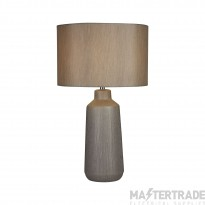 Searchlight Isla Silver Ceramic Touch Table Lamp